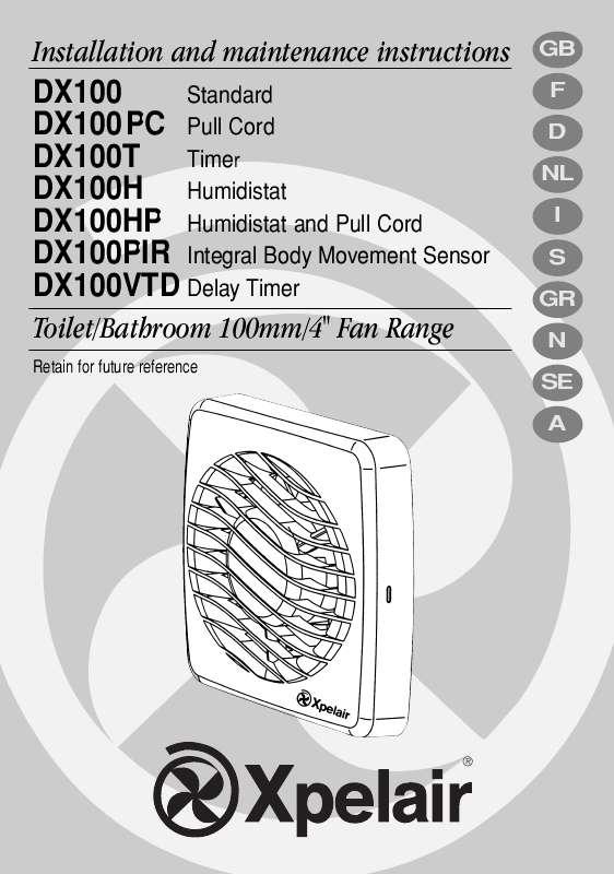 Guide utilisation  APPLIED ENERGY DX100PIR  de la marque APPLIED ENERGY