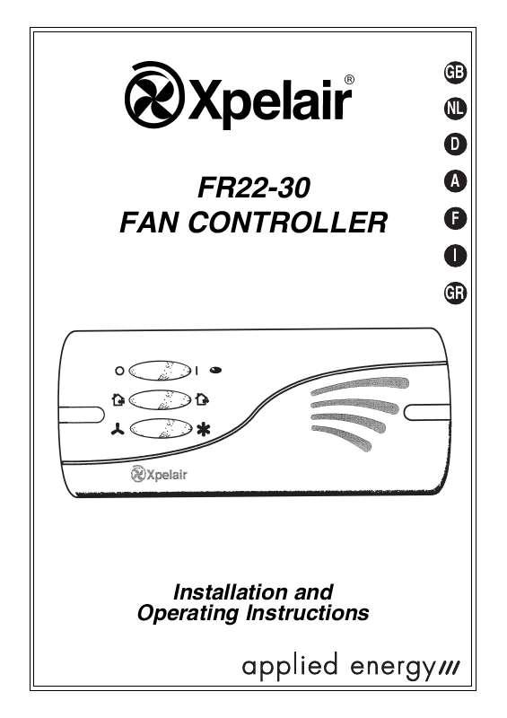 Guide utilisation  APPLIED ENERGY FR22-30  de la marque APPLIED ENERGY