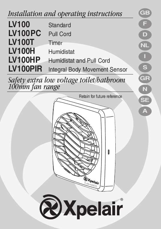Guide utilisation  APPLIED ENERGY LV 100H  de la marque APPLIED ENERGY