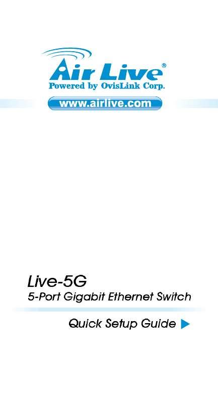 Guide utilisation  AIRLIVE LIVE-5G  de la marque AIRLIVE
