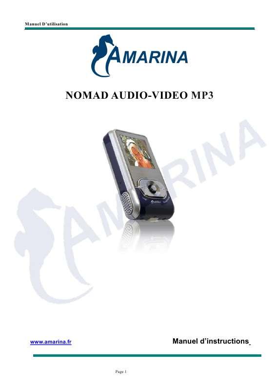 Guide utilisation  AMARINA MP3 NOMAD  de la marque AMARINA