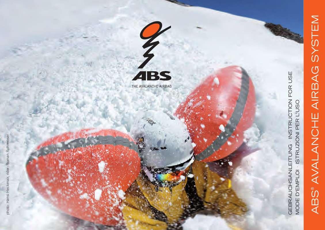 Guide utilisation  ABS PETER ASCHAUER GMBH AVALANCHE AIRBAG SYSTEM  de la marque ABS PETER ASCHAUER GMBH
