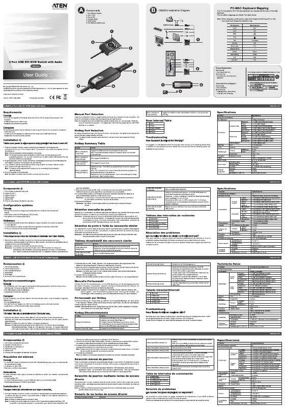 Guide utilisation  ATEN CS62DU  de la marque ATEN