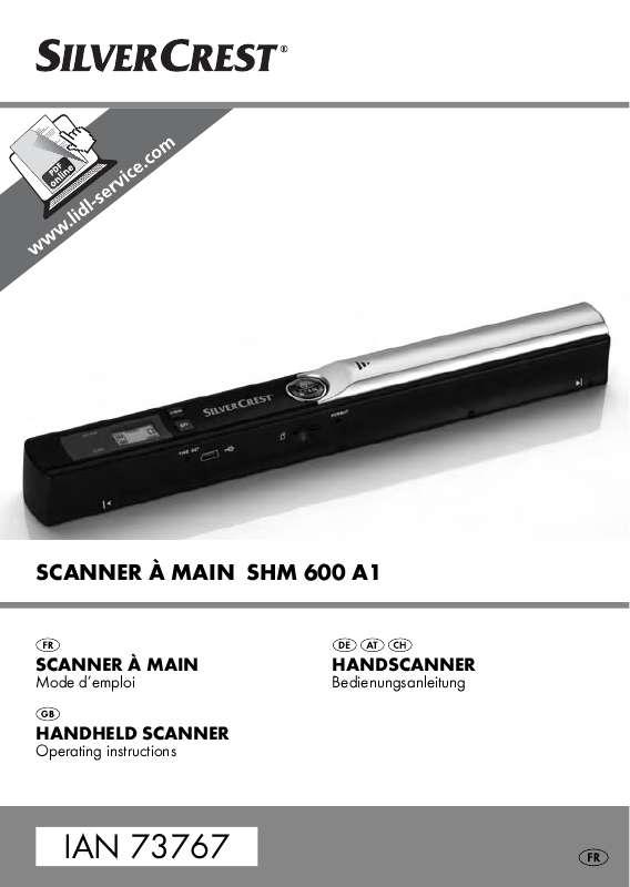 Guide utilisation  SILVERCREST SHM 600 A1  de la marque SILVERCREST