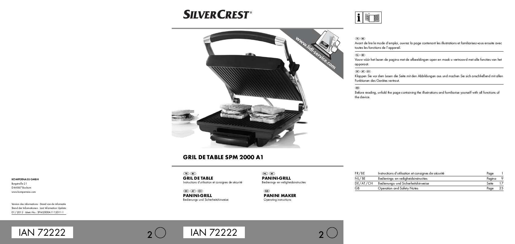 Guide utilisation  SILVERCREST SPM 2000 A1  de la marque SILVERCREST