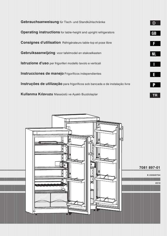 Guide utilisation LIEBHERR K 265 de la marque LIEBHERR