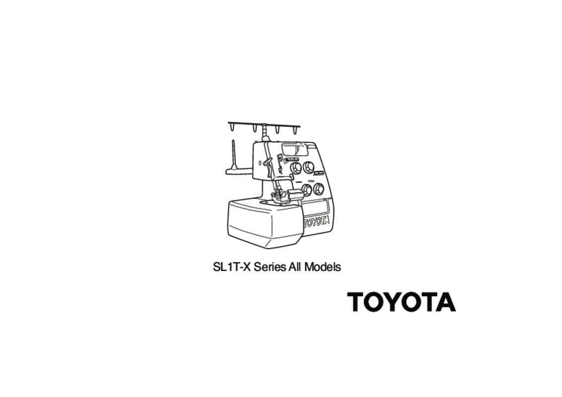 Guide utilisation TOYOTA SURJETEUSE SLR4D  de la marque TOYOTA